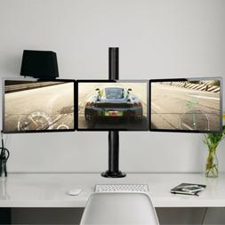 3 Arms Adjustable Monitor Desk TV Mount Computer Screen Brac