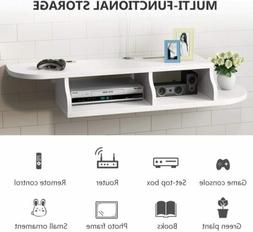 """45.2x10.6x7"""" TV Stand Floating Shelf White Wall Mounted Stor"""