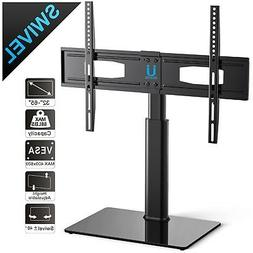 """Tempered Glass Black TV Stand Console Media 32""""-55"""" with Bra"""