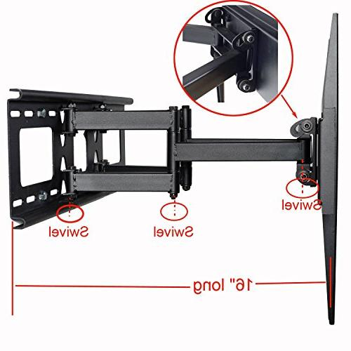Videosecu Tilt Swivel Wall Mount LCD LED Plasma TV with VESA 400x400, Up mm, Full Motion Arm Mount Fits HDMI Cable MW365B2H C20