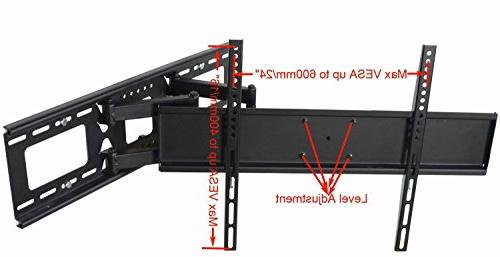 """Videosecu Tilt Swivel Wall 32""""- LCD Plasma with VESA 200x200, Up 600x400 Full Motion Arm Mount Up to 24"""" HDMI Cable"""