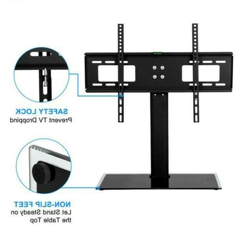 """Table TV Stand Base Swivel Mount Height 30""""-55"""""""