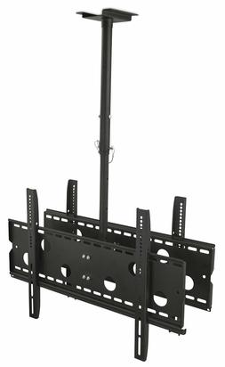 """Mount-It! Dual Screen TV Ceiling Mount for 40"""" 50"""" 55"""" 60"""" 6"""