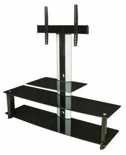 Mount-It! TV Stand with Mount Entertainment Center 3 Glass S