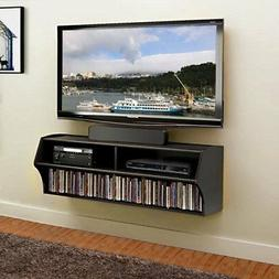 TV Stand Floating Wall Mounted 2 Shelves Home Office Audio V