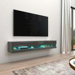 """Vigo 180 Wall Mounted Floating 71"""" TV Stand with 16 Color"""